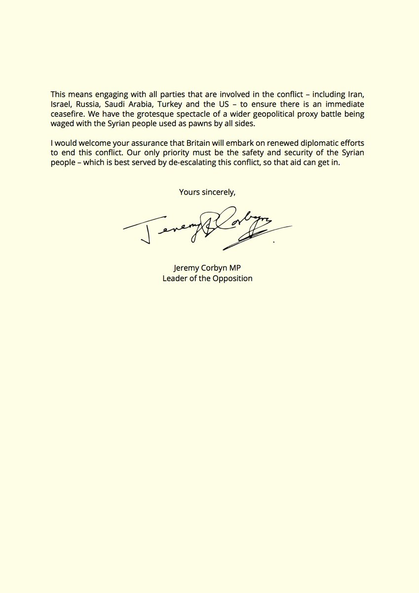 Jeremy corbyn on twitter i have written to theresamay in jeremy corbyn on twitter i have written to theresamay in response to last nights legally questionable air strikes on syria parliament should have been spiritdancerdesigns