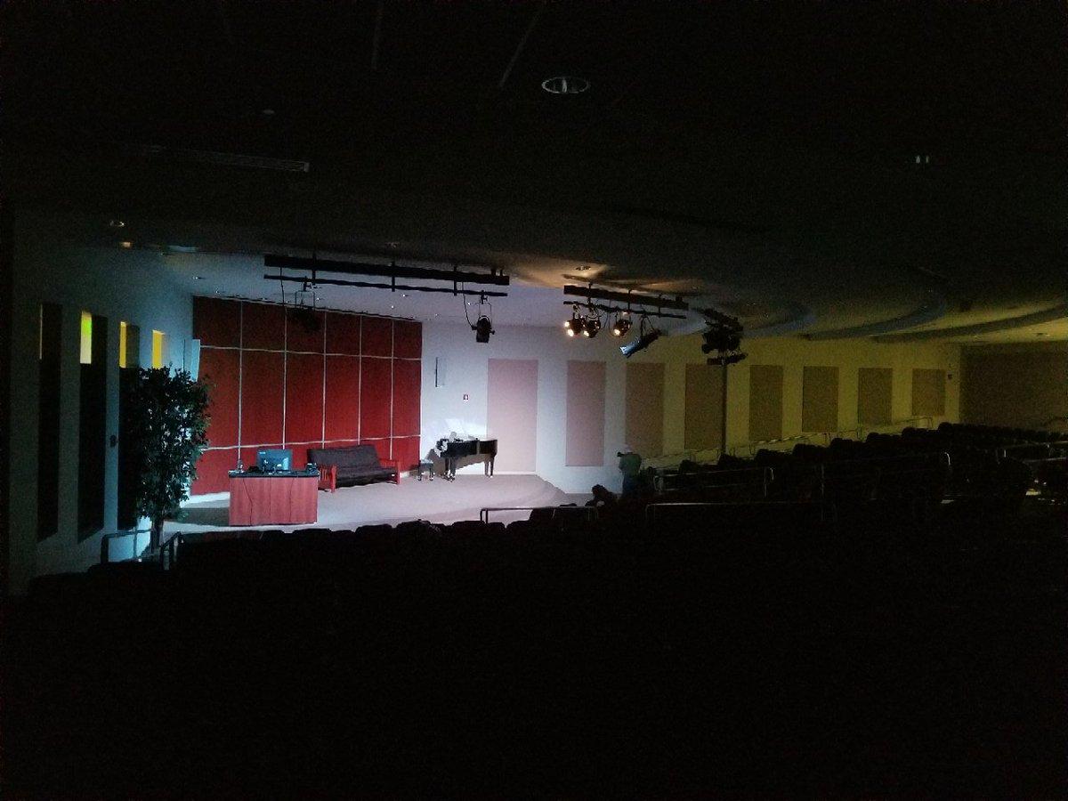 Someone performing in Building C Cisco Auditorium