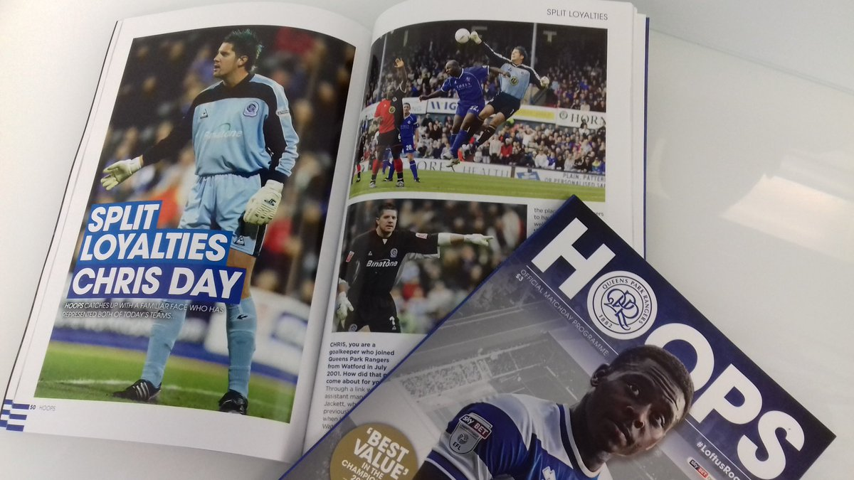 In todays QPR official match programme, read my five page interview with our great past goalkeeper Chris Day  @QPRFC @StevenageFC @fcbusiness @EFL