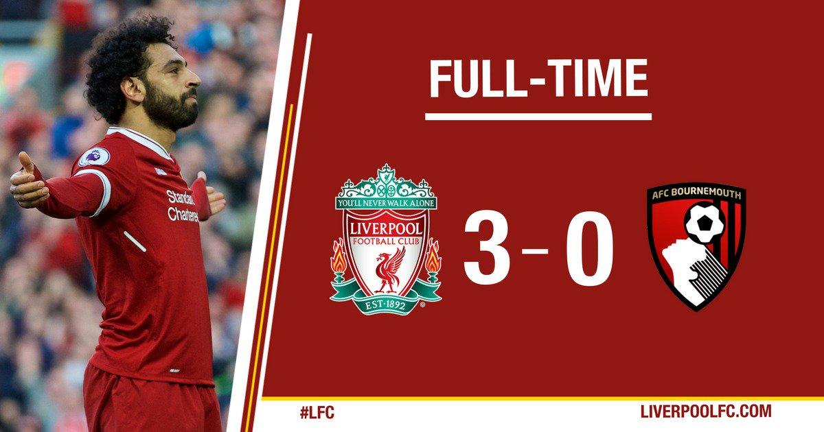 Chấm điểm kết quả Liverpool 3-0 Bournemouth