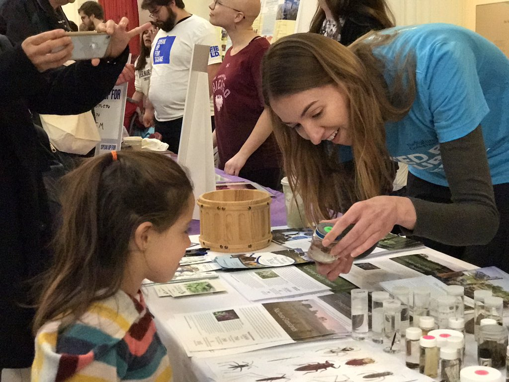Thanks to @Nature_IL for sharing the wonders of nature at Speak Up For Science today. #OnItTogether 🌱