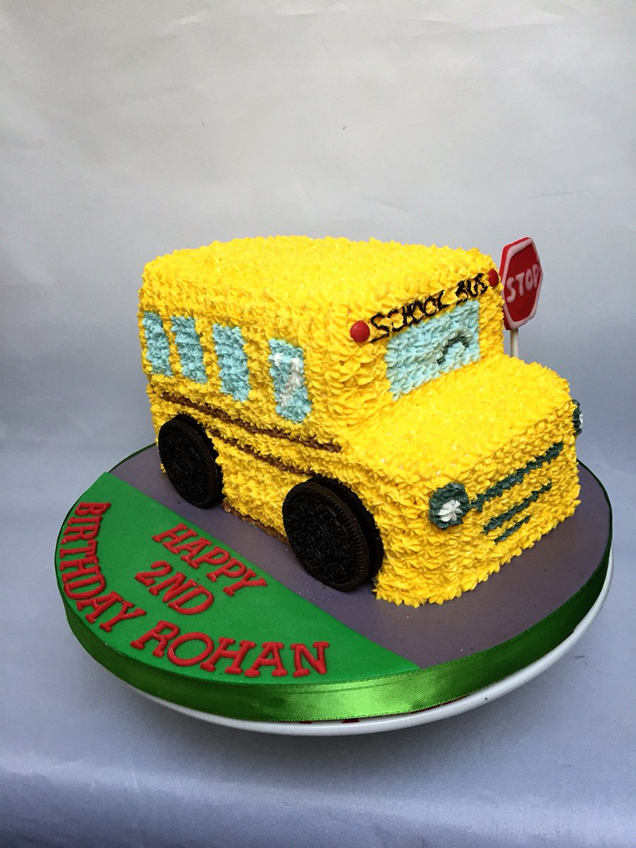 Remarkable Shirley Chan On Twitter School Bus Birthday Cake Schoolbus Personalised Birthday Cards Cominlily Jamesorg