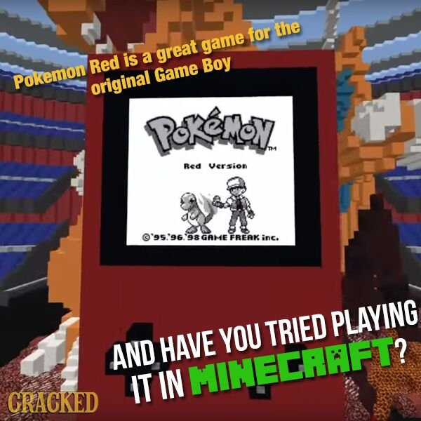 Ed S Tweet Someone Remade Pokemon Red Inside Minecraft 6 Video Feats So Amazing They Make You Question Reality Trendsmap