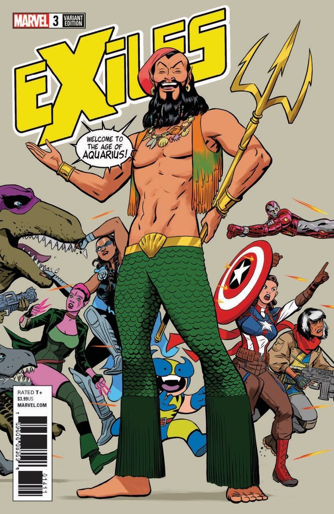 so EXILES Namor is going to be...a little different (variant by @javiercaster)