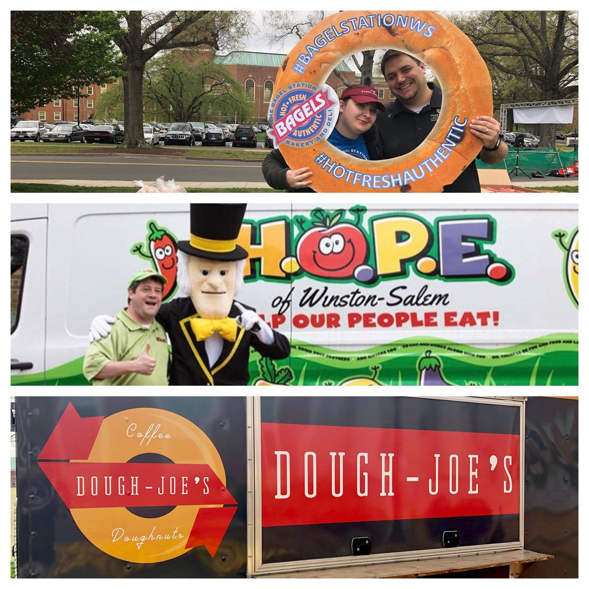 What a great morning on campus at @WakeForest.  Many thanks to the student leaders, participants, volunteers, and local community & @WFUAlumni partners who made it happen! @BagelStation @Hope_WS @DoughJoesNC @WakeForestBiz