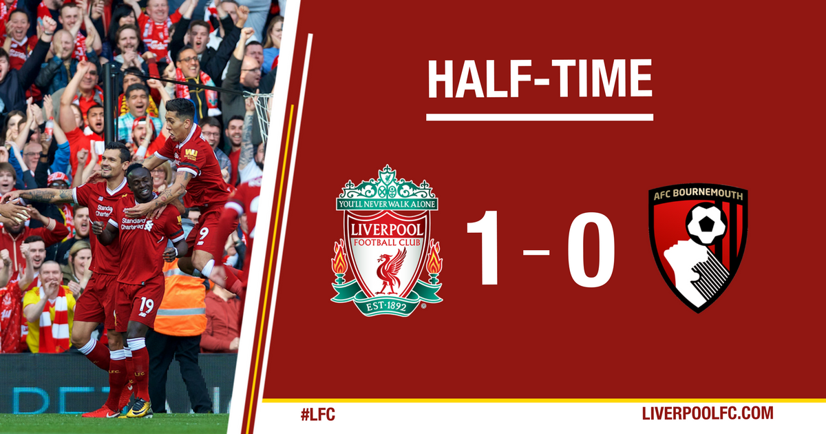 Positive opening 45 minutes for the Reds back at Anfield. #LIVBOU https://t.co/4ypkyQHIZ6
