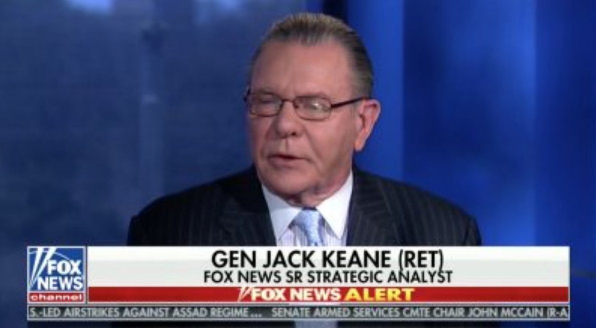 Fox News Analyst Ret. General Jack Keane Calls Syria Strike 'Weak': 'Should Have Been Decisive' https://t.co/cJvsQgAyhZ (VIDEO)