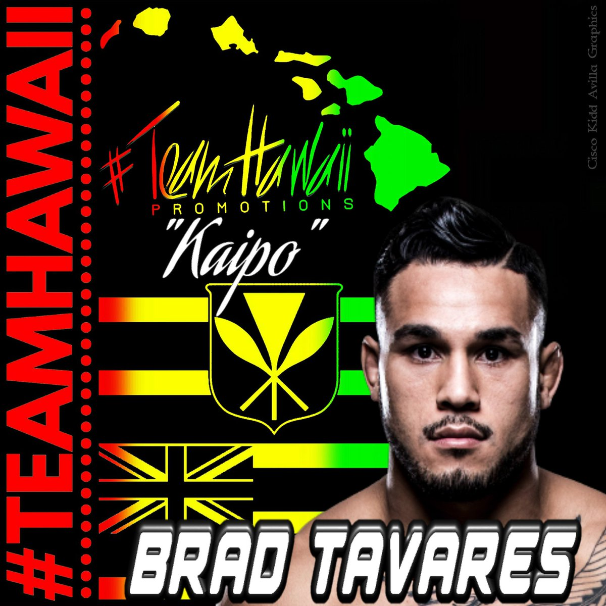Retweet & show your support for @BradTavares today at #UFCGlendale! #TeamHawaii