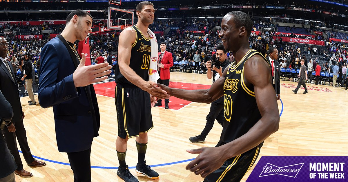 Closing the season with a #LakersWin is our @budweiserusa Moment of the Week
