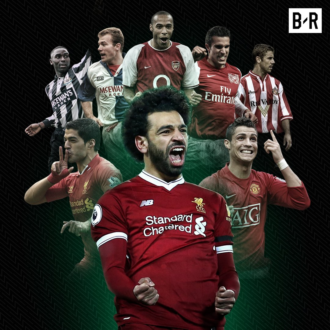Mo Salah becomes the eighth player to score 30 Premier League goals in a single season 🔥