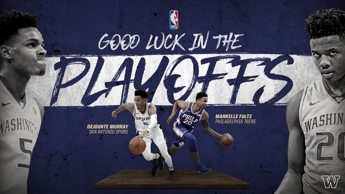 Playoff time.  Good luck to @DejounteMurray and @MarkelleF in the #NBAPlayoffs.  #ProDawgs