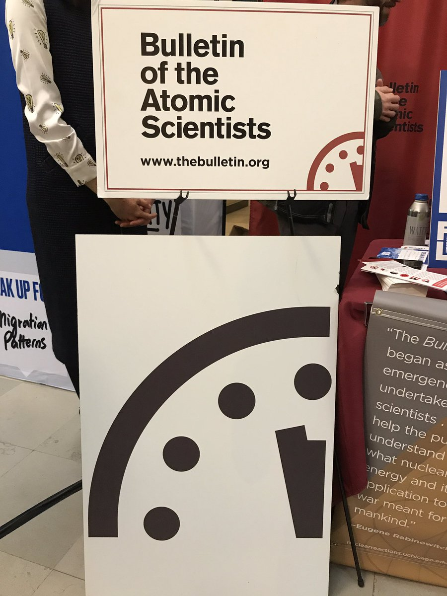Dont know what 2 minutes till midnight means? @BulletinAtomic will fill you in. ⚛️ #OnItTogether