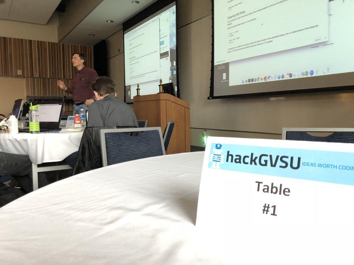 Photo 5 of 5 on twitter from user @hackGVSU.