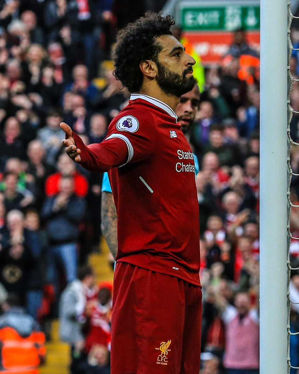 Mohamed Salah: —30 Premier League goals in 2017/18 —40 in all competitions this season —Scored in 22 different league games this season —Scored in every home game since Boxing Day