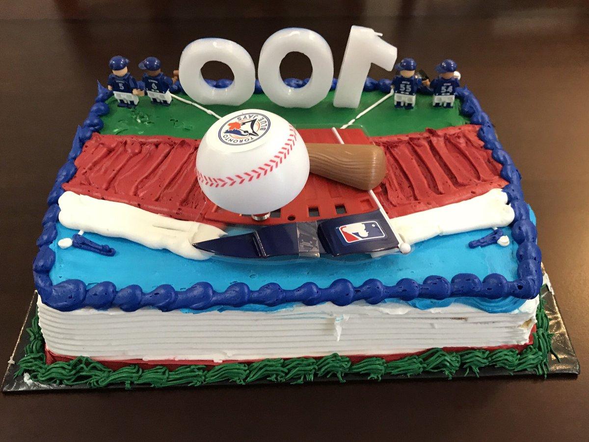Super Fan Dan On Twitter My Mlb Bluejays Themed Birthday Cake