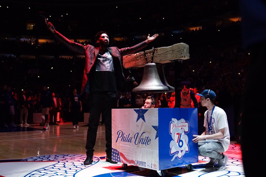RING US IN, @JoelEmbiid!   #PhilaUnite x #HereTheyCome https://t.co/eIQCklHBIz