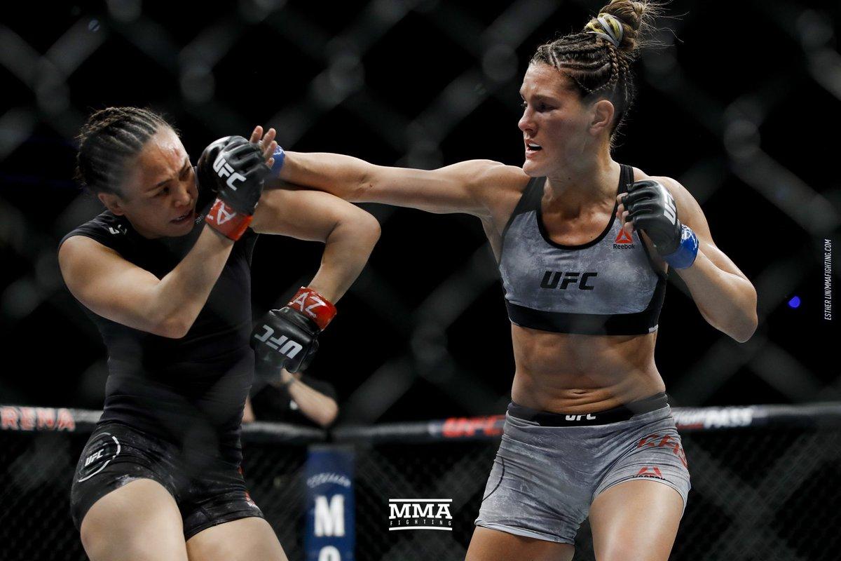 Was @karatehottiemma vs. @CastIron_Casey the #UFCGlendale Fight of the Night so far? (@allelbows)
