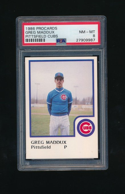 Happy 52nd birthday to Greg Maddux of the Pittsfield Cubs: