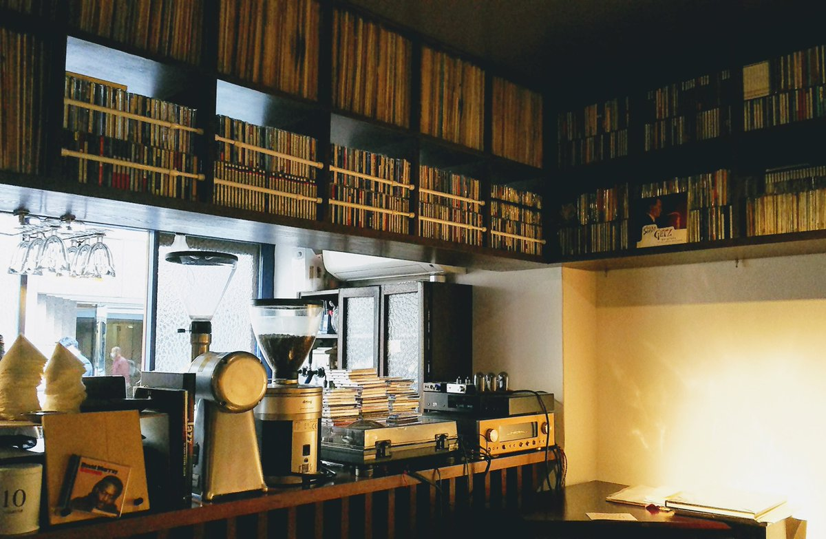 #Vintage #audio set, #incredible #record collection & #quality #coffee ...  #perfect for your #sunday #Chillout! https://hiroyatabe.shopinfo.jp/ ...