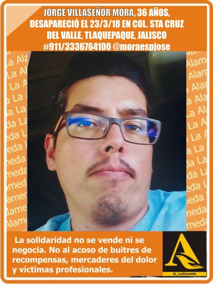 #TeBuscamos Jorge Villaseñor Mora, 36 años #Tlaquepaque #Jalisco #911/3336764100 @LaAlamedaJal @moraespjose https://t.co/MSS5GAEj0M