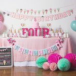 """66 Likes, 1 Comments - Bethany / Sweet Georgia Sweet (@sweetgeorgiasweet) on Instagram: """"It's never too early for ice cream, right? • • • • #sgsparties #sgsbanners #sweetgeorgiasweet…"""" This fantastic party idea was featured today on https://t.co/2n0L40LUCS! #partyideas #pa…"""