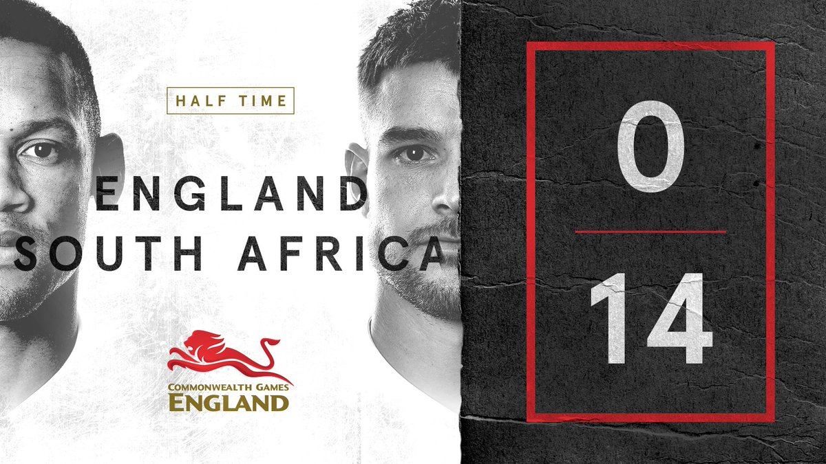 England are behind to South Africa at half time in their #GC2018 Bronze Medal match at the Robina Stadium. Big second half needed! 🙏