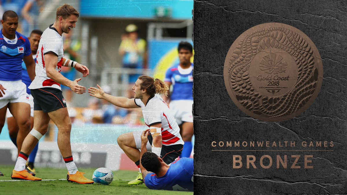 3⃣ unanswered tries in the second half and the final score is 21-14. England Men have won the Bronze Medal!!🥉