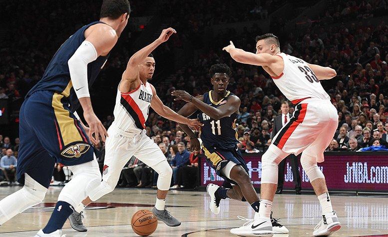 Anthony Davis, Pelicans at Blazers Game 1