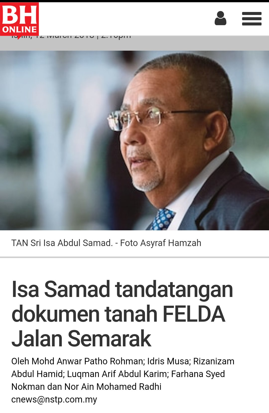 Inilah calon Umno. Syabas! https://t.co/oTwMUSa2wA