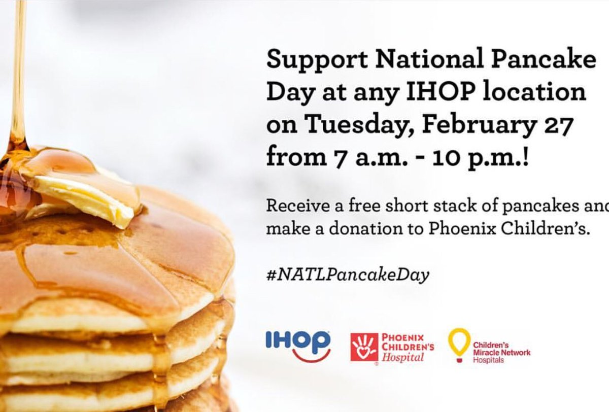 IHOP National Pancake Day 2018 – Children\'s Miracle Network Hospitals
