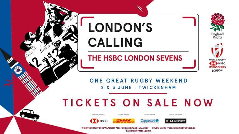 LONDON CALLING 🇬🇧 Tickets now on sale to this years HSBC #London7s: bit.ly/2HC11dc