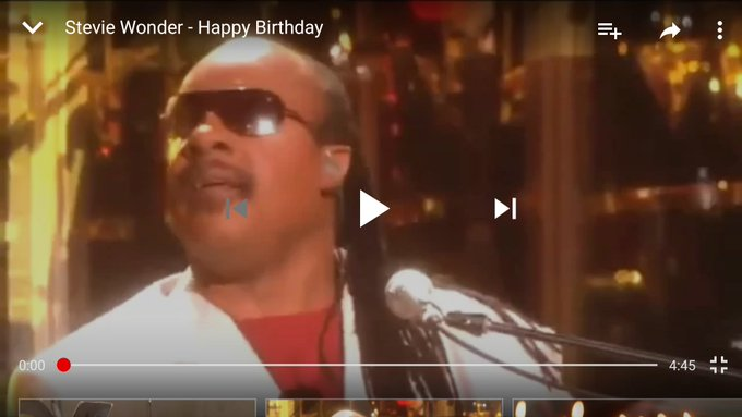 "Stevie Wonder ""Happy Birthday \""                  ~"