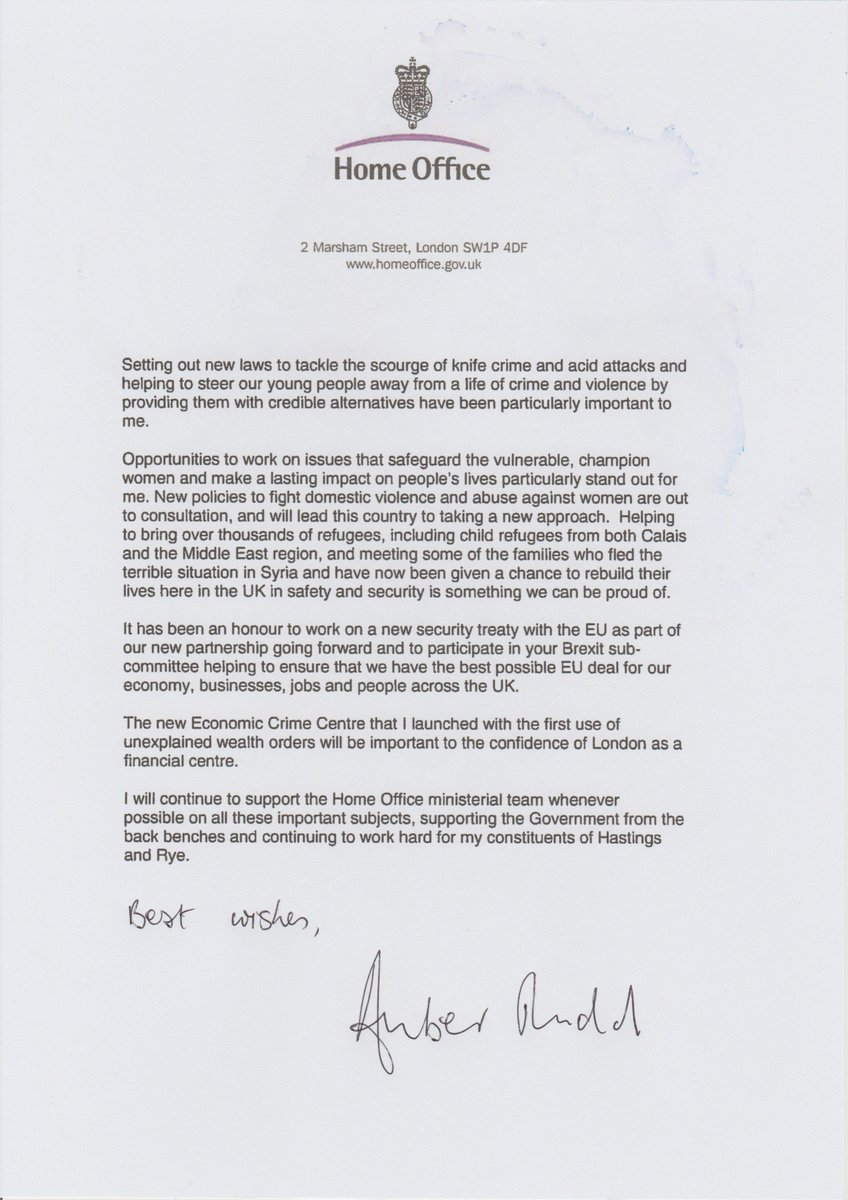 Guido Fawkes On Twitter Read Amber Rudds Resignation Letter