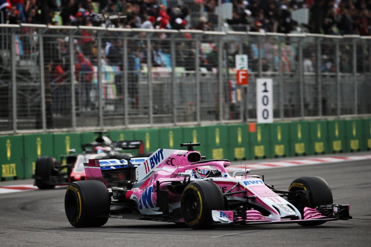 Checo racing in Baku
