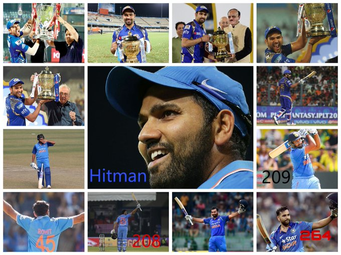 Happy birthday to my favorite player and my role model......Rohit Sharma the Hitman