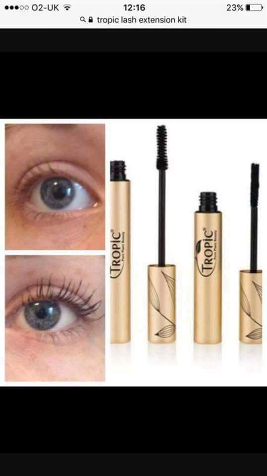 5db6aaa9384 Tropic Lash Extension Kit just £25 Beats messing around with false lashes,  so easy to apply .... Available in Black or Brown ...