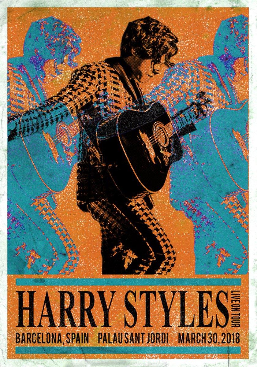 Lin On Twitter Vintage Tour Posters For Harry Pt 4 Sydney Barcelona Stockholm Milan
