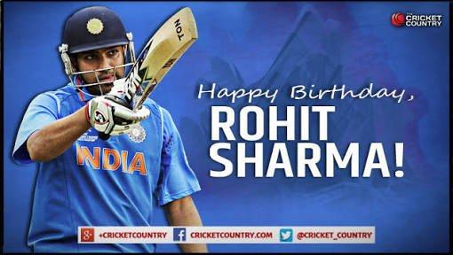 A very happy birthday rohit sharma