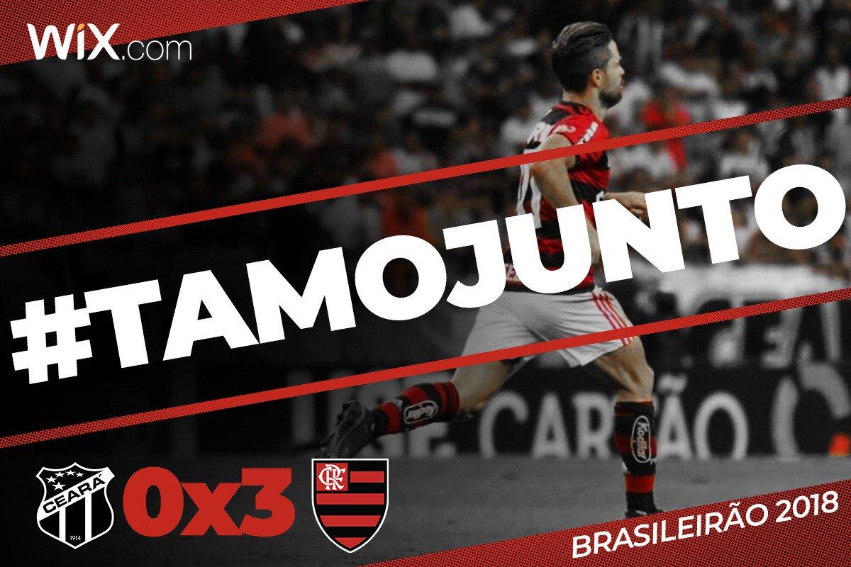 Com imenso apoio da Nação no Castelão, Vinicius Junior fez dois, Diego foi pra galera e vencemos o Ceará e seguimos firmes no Brasileirão: 3x0! #TamoJunto  Vem pro @NacaoCRF: https://t.co/BG6PpxkQ0p