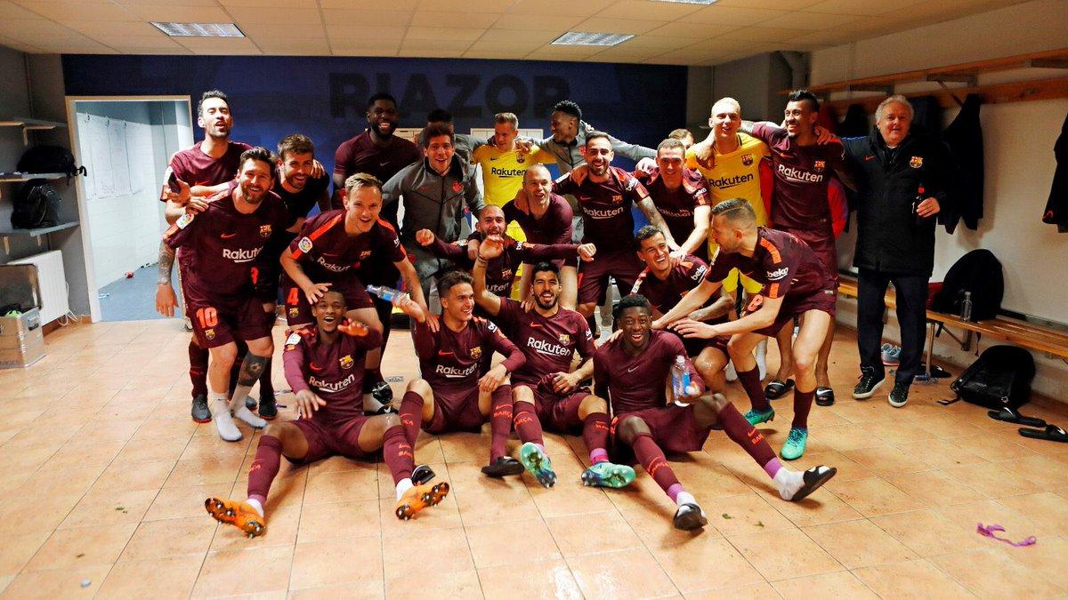 Campeones!! 🔵🔴 #7heChamp10ns #ForçaBarça