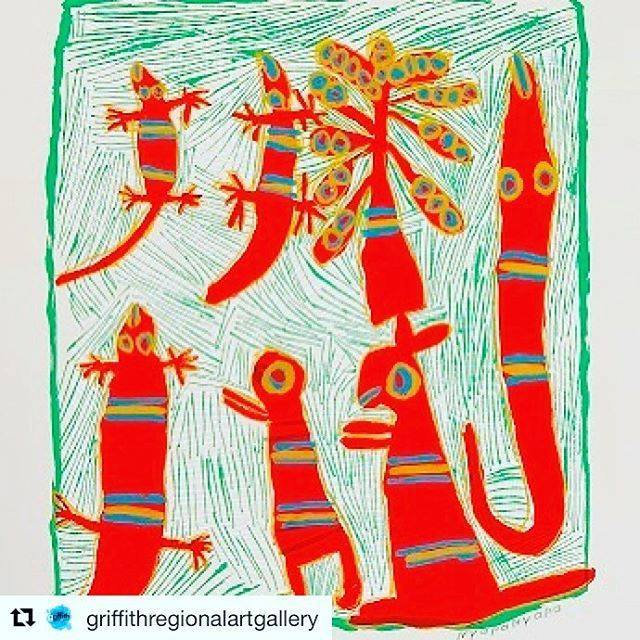 Balnhdhurr - currently being exhibited @griffithregionalartgallery. Encapsulating 20 was years of print work in the Yirrkala print space @artback_nt #regionaltour #contemporaryart #arnhemland #yolngupower https://ift.tt/2Jxp78upic.twitter.com/c8b4yzhuzx