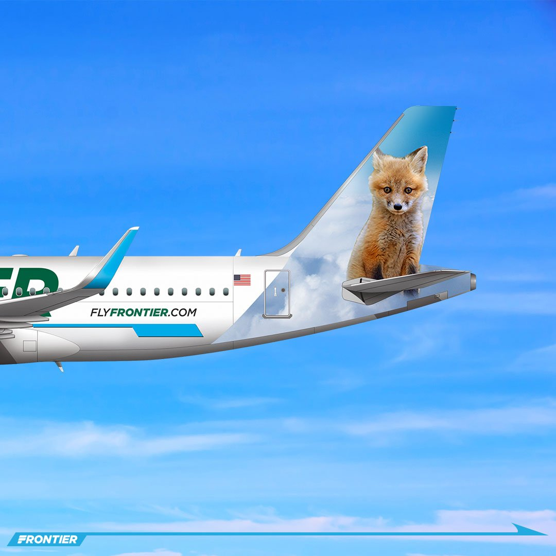 frontier airlines on twitter meetthefleet scroll right to meet the newest member of our family trixie the fox fantasticfox https t co niizmdmydp https t co xrvppmerfs frontier airlines on twitter