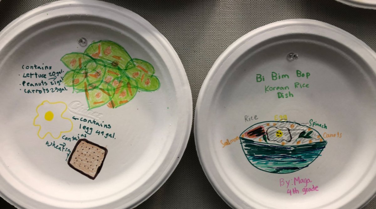 Yesterday was &quot;Bring Your Kids to Work Day&quot; at Genentech! Our kids participated in a food art contest around sustainable meals. Choosing eco-friendly food options is a way to help our bodies and our planet!  #EarthWeek. <br>http://pic.twitter.com/yearZ2lSgu