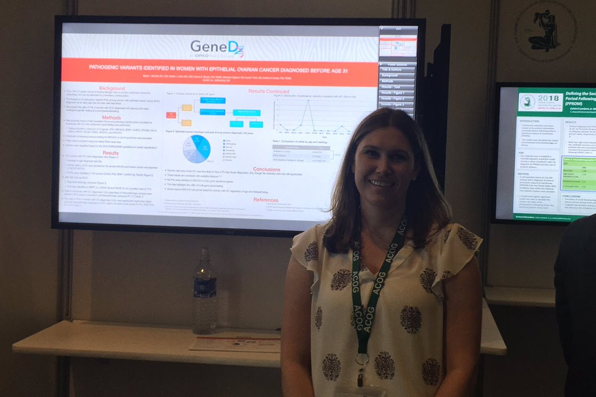 Genedx On Twitter Thank You To Genedx S Megan Marshall Who Presented A Poster Today On Ovarian Cancer Pathogenic Variants At Acog In Austin If You Missed It You Can Check Any E Poster