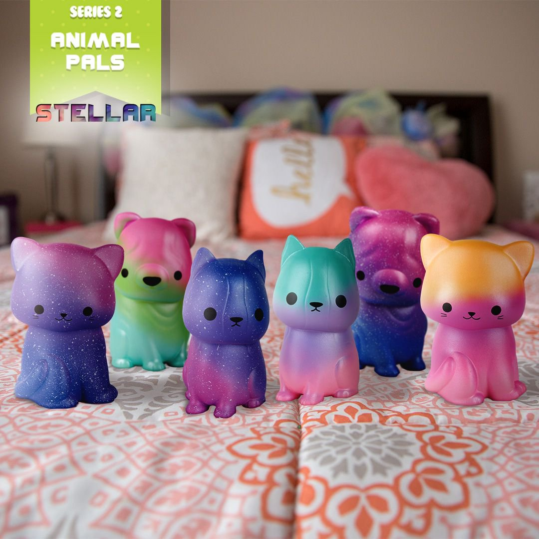 Check Out These Swirly Colorful SoftnSloSquishies