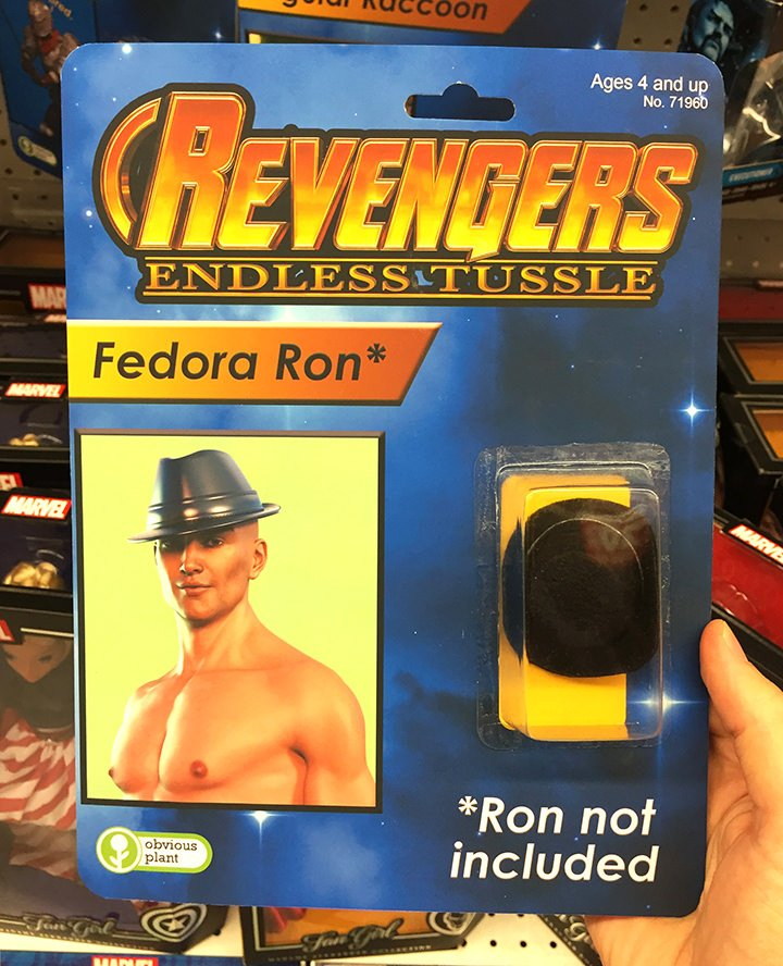 Sure, Avengers looks fun but I'm all about Revengers and their bootleg action figures