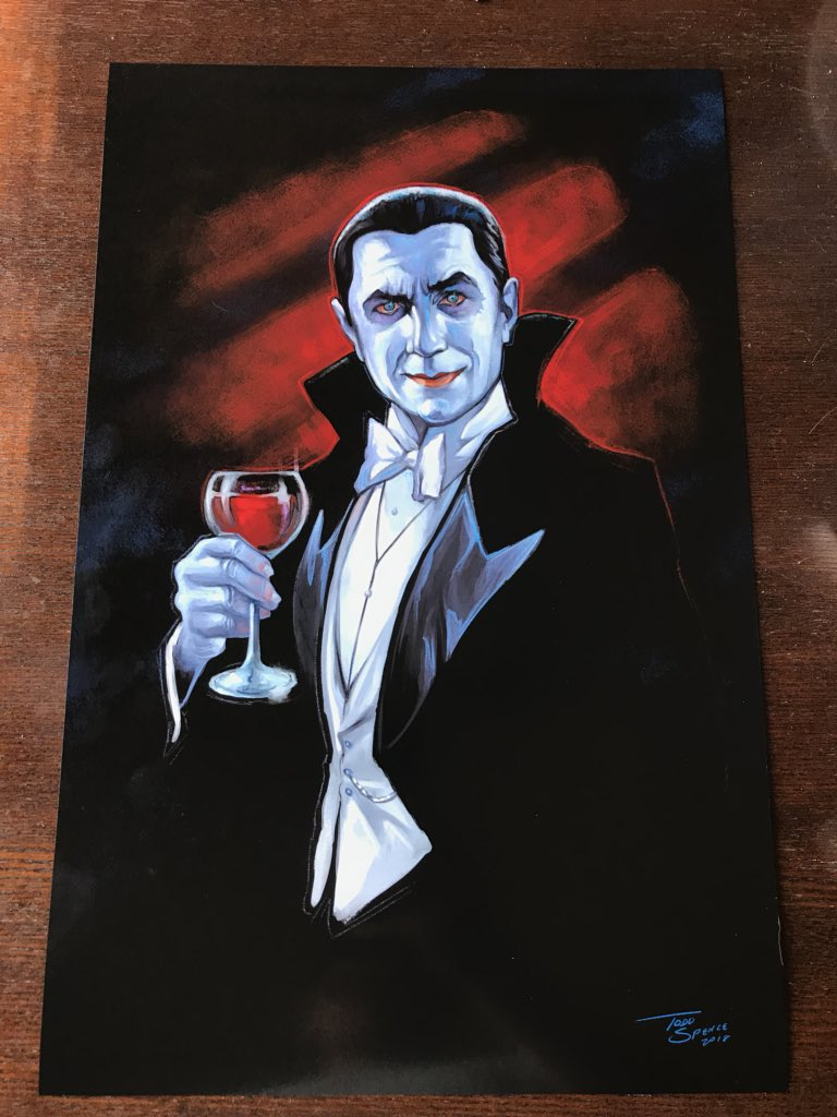"The prints for my DRACULA piece are in and they look great! Only $35, 11x17"" in size. DM me if interested."
