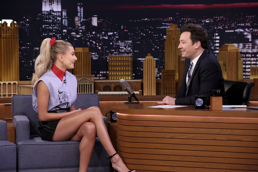 First Look: Hailey Baldwin appears on The Tonight Show Starring Jimmy Fallon https://t.co/HIjNNJtmMs https://t.co/P4P5pbURjW