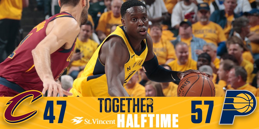 Halftime of Game 6.   #Together #PacersPlayoffs https://t.co/T3VcdSFZtU