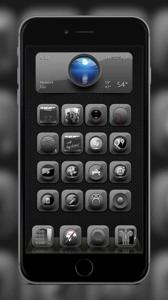 #BlackNux by @Chris_Themes Thank you once again for the contest AE by @prosper406  Dock &amp; Widget by @daddykool666  #ssapp by @JunesIphone<br>http://pic.twitter.com/6sOAFfdeQs